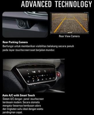 Fitur Rear Parkir Camera dan Auto AC Honda HR-V