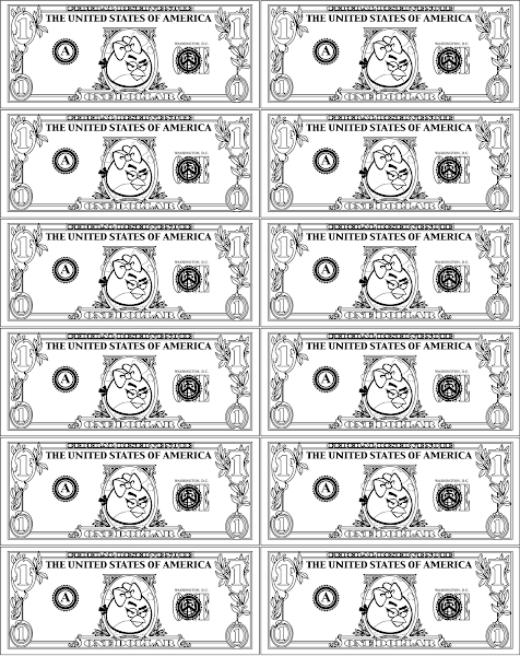 printable play money coloring pages – colorings