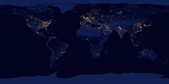 NASA-NOAA Satellite Reveals New Views of Earth at Night ...