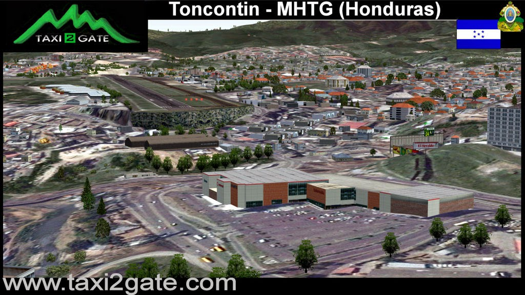 Download Scenery TAXI2GATE Toncontin (MHTG) #FSX