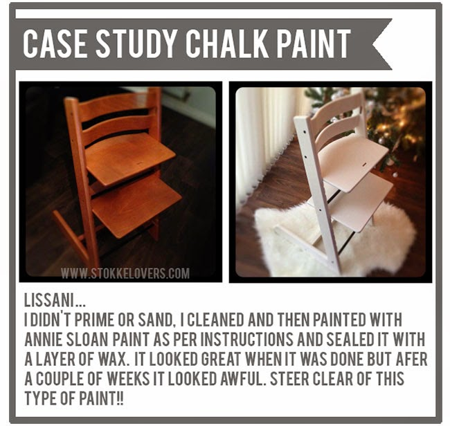 Painting a Tripp Trapp chalk paint