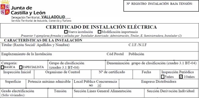 inspeccion instalacion electricidad viviendas protocolo