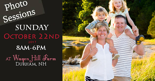 $50 Mini Portrait Session Special Oct 22nd at Wagon Hill Farm in Durham, NH