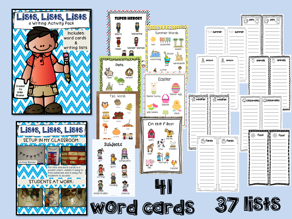 Lots of writing center activities and ideas for Kindergarten and First Grade- perfect for Daily 5!