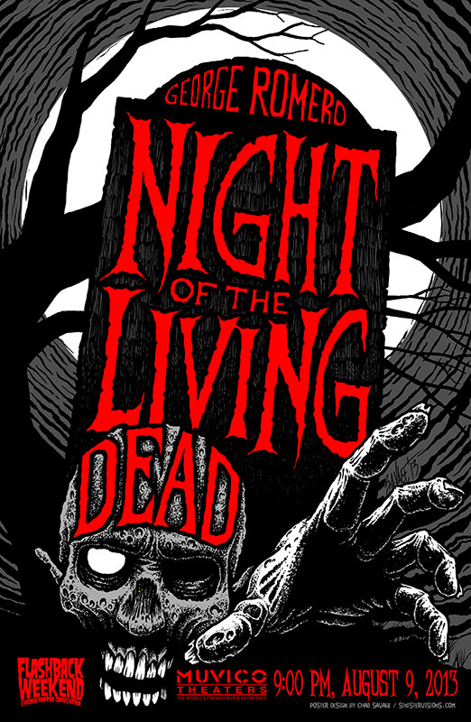 Night of the Living Dead Poster Art by Chad Savage