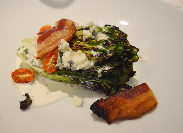 Grilled Sucrine-Niman Bacon-Buttermilk-Maytag Blue