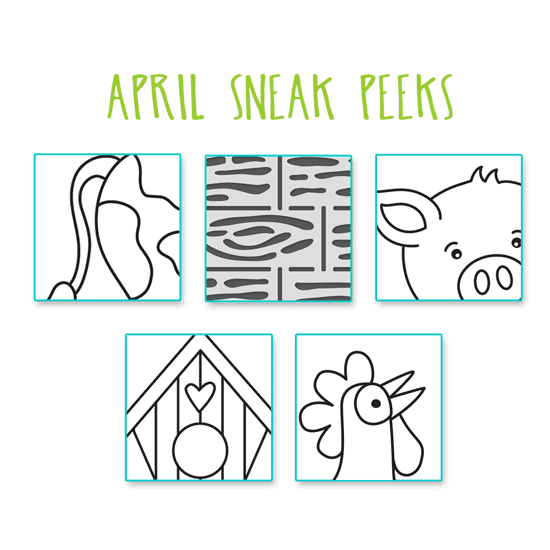 Sneak Peeks for April Products! Newton's Nook Designs #newtonsnook