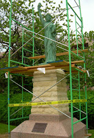 Statue of liberty in a cage