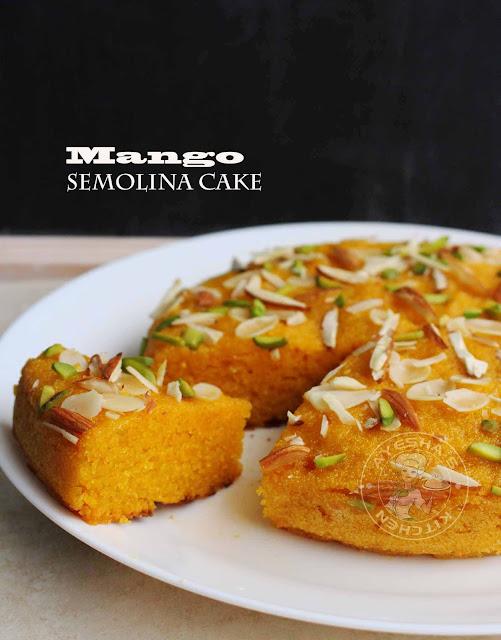 ayeshas kitchen recipes ayesha farah Mango semolina cake egg free cake mangolina cake stove top recipes