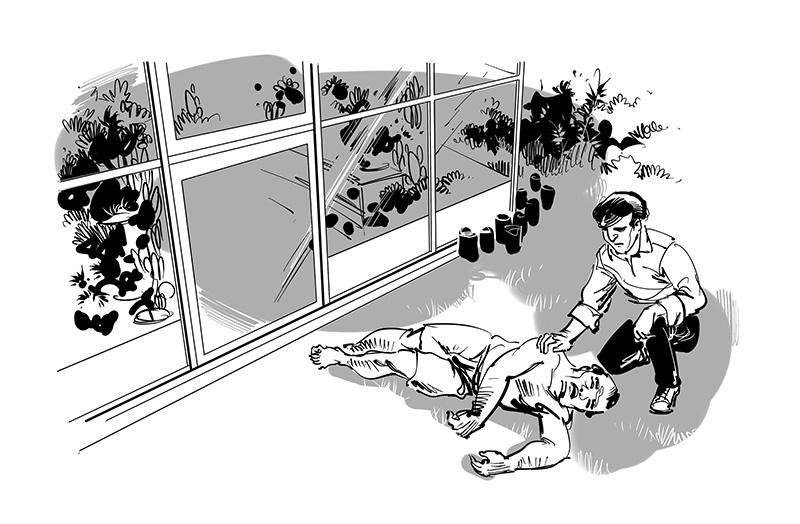bishbaidya story black white illustration for tagbag