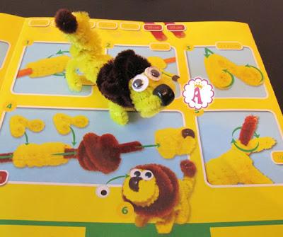 Как сделать льва из желтой и коричневой синели
