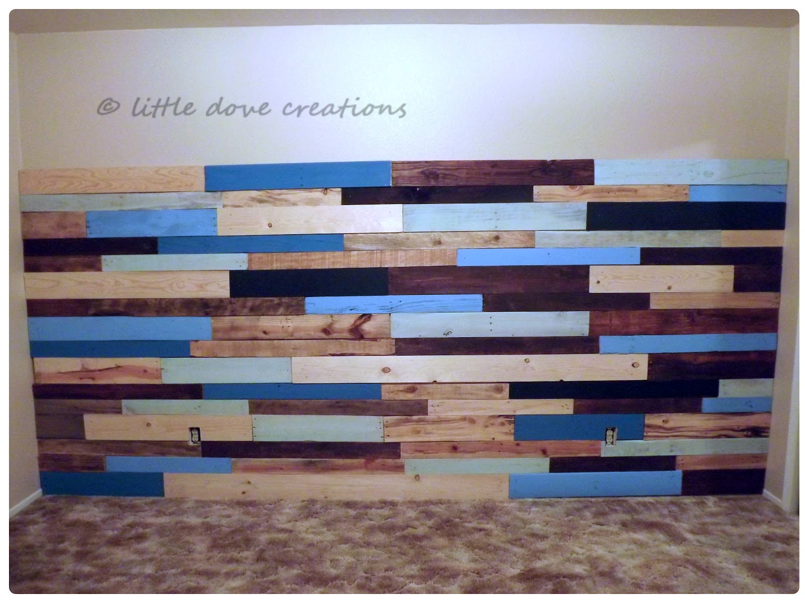 i know the gross 80s carpet really ruins the effect huh i cant wait to rip it out hopefully later this year - Pallet Wall