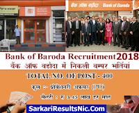 Bank Of Broda Recruitment 2018 For Sr. Relationship Manager Job
