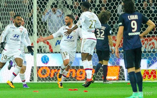 Joie Lyonnaise après leur premier but face au PSG au Parc OL dimanche dernier