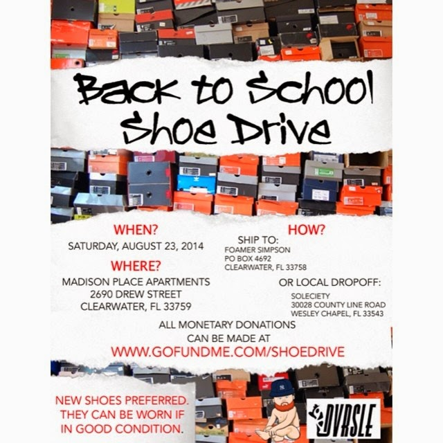 The Fat Kid Social Club Back to School Shoe Drive