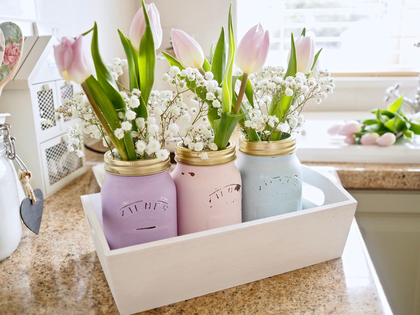 Video Mother S Day Diy Gifts Using Chalk Paint And Jars Dainty