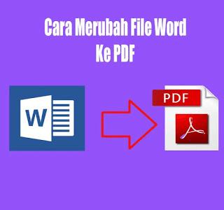 cara merubah word ke pdf tanpa software