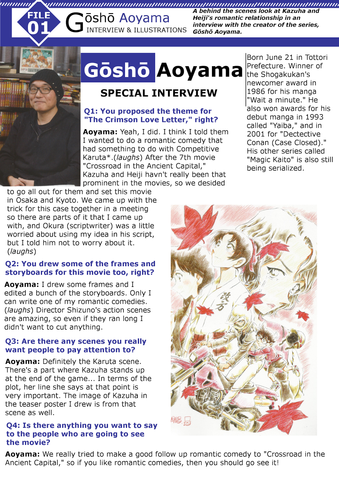 Detective Conan  Aoyama Gosho Special Interview Part  The Crimson