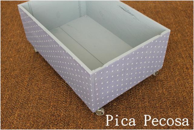 Caja de madera reciclada con ruedas pica pecosa - Caja madera con ruedas ...