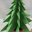 Origami Christmas Tree 3D ~ Paper Origami Folding Diagram