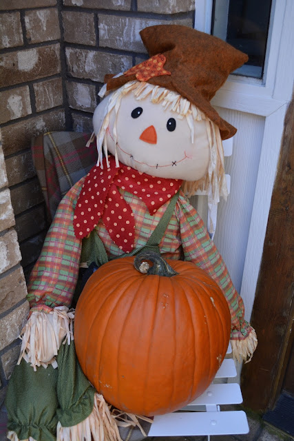 pumpkin and scarecrow.