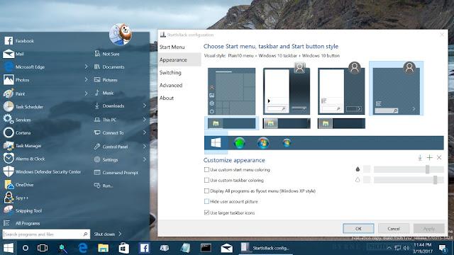 Screenshot StartIsBack ++ 2.8.9 Full Version
