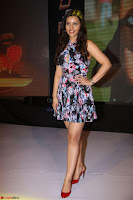 Kyra Dutta in a Deep neck Small Dress at Shamanthakamani pre release function ~  Exclusive 093.JPG