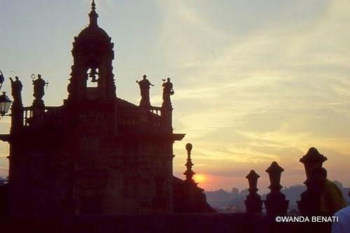 Santiago de Compostella, la Cattedrale al tramonto