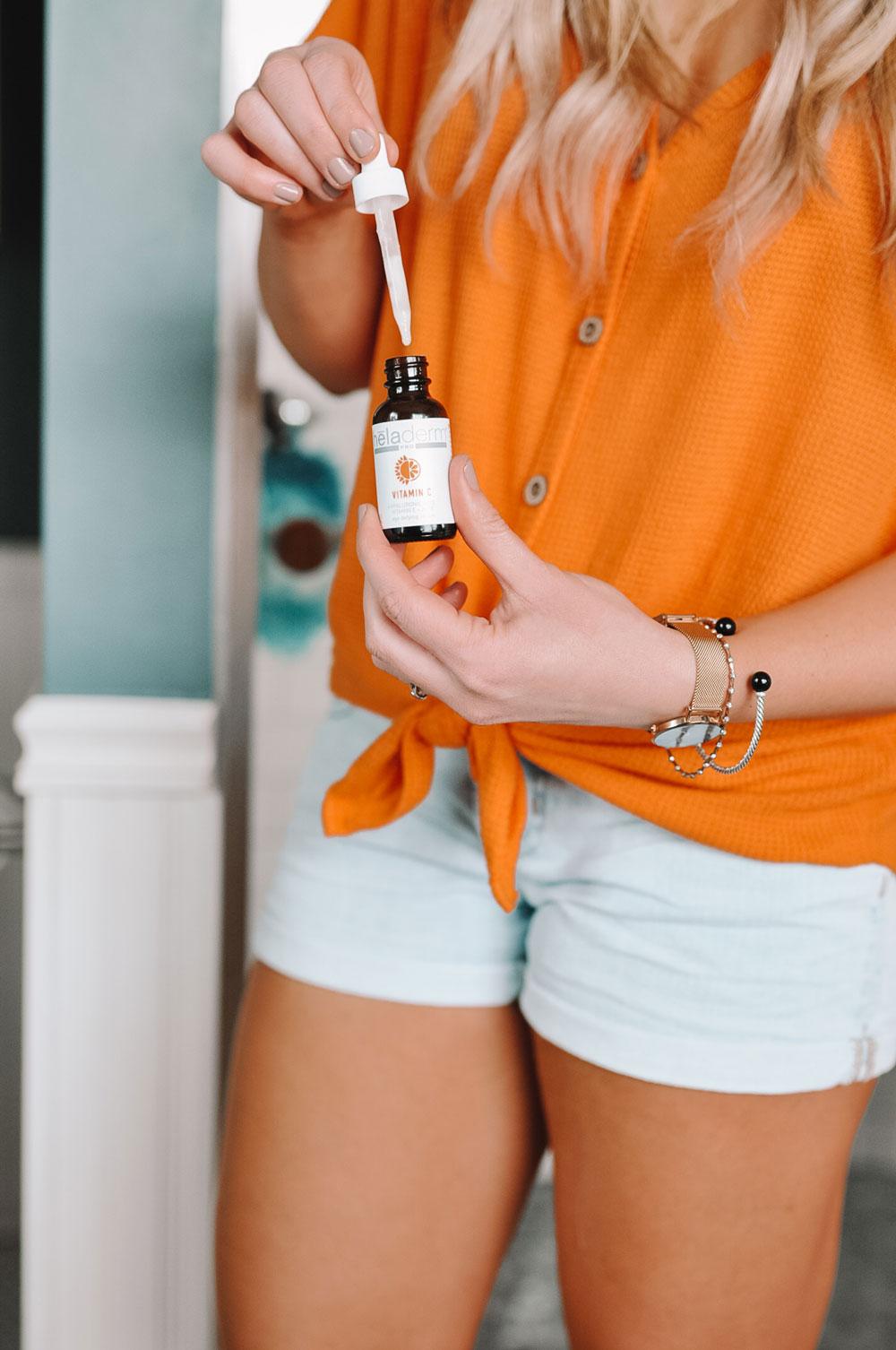 Blogger Amanda Martin shares how to brighten skin with Heladerm's Vitamin C serum