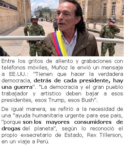 Se autoproclama 'presidente' de Colombia