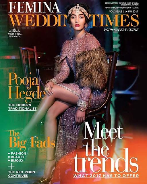 Pooja Hegde Femina Wedding Times Magazine Photoshoot