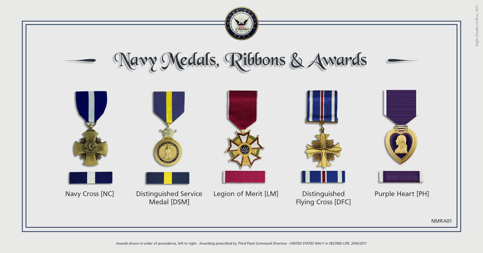 N A S  Miramar NFWS / SL: Medals and Awards of Third Fleet - Navy