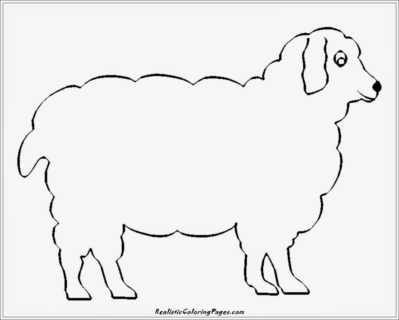 simple lamb coloring pages