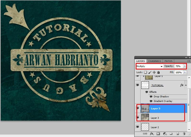 Cara Mudah Desain Logo  Bergaya Grunge Menggunakan Photoshop