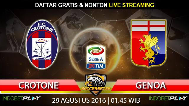 Prediksi Crotone vs Genoa 29 Agustus 2016 (Liga Italia)