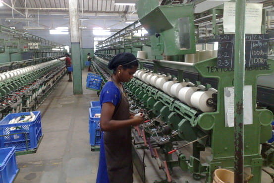 Workers in spinning industry