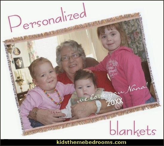 Personalized Throw Blankets - personalized bedding - personalized pillows