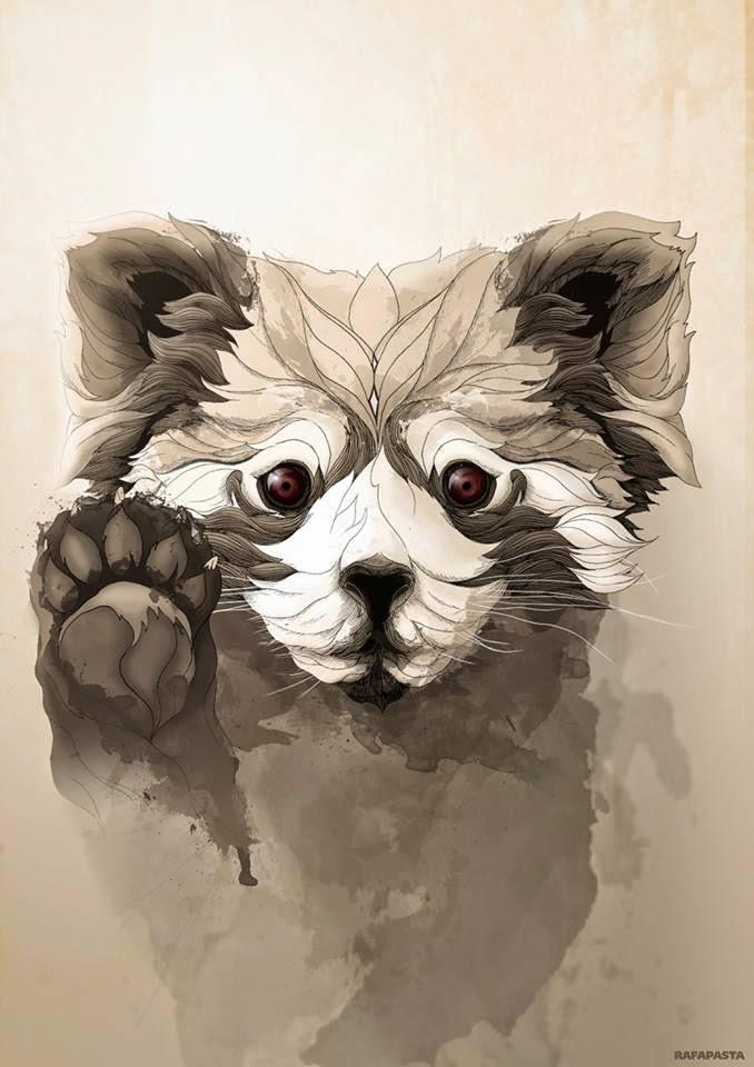 Badass Iphone Wallpaper Rafapasta Ilustrador Wild Animals
