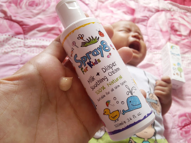 BILA BABY KENA RUAM SUSU, GUNA BILA BABY KENA RUAM SUSU, GUNA SPRAY8 FOR KIDS MILK DIAPERS SOOTHING CREAM