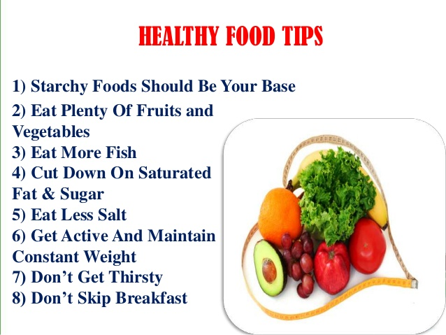 Top 8 Healthy Eating Tips