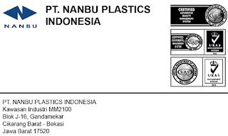 Loker Operator Produksi PT. Nanbu Plastics Indonesia MM2100 Cikarang