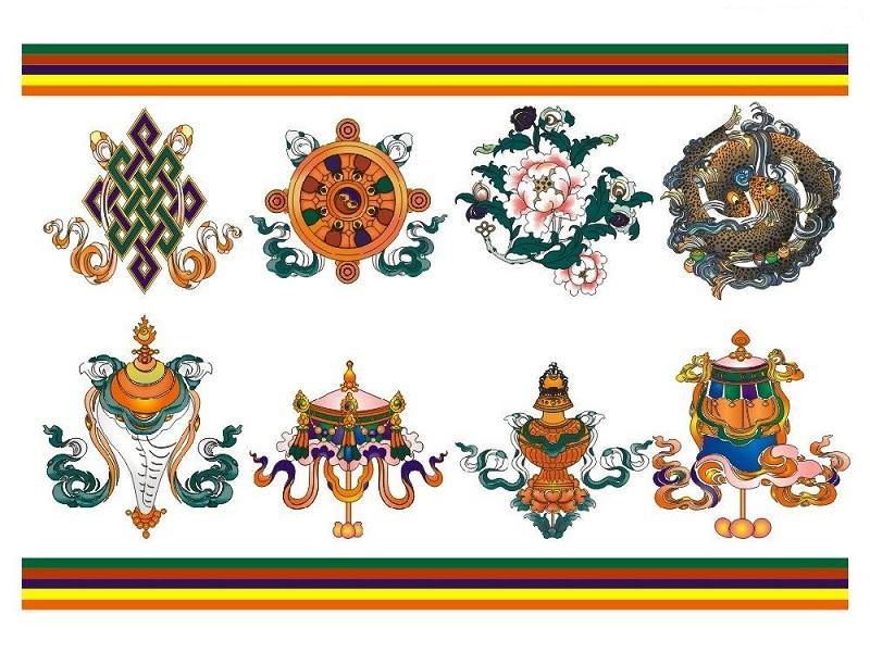 The Eight Auspicious Symbols Of Tibetan Buddhism