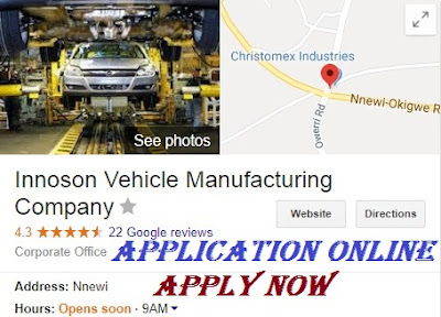 Innoson Vehicle Manufacturing Recruitment 2018 | Apply Here