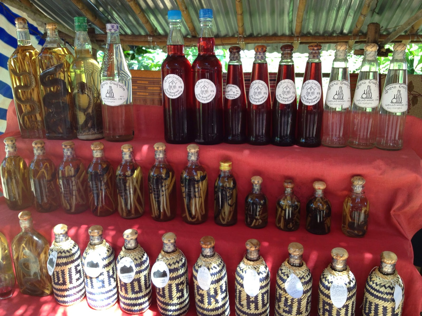 Luang Prabang - We stopped off at Whiskey Village on our way to Pak Ou Caves