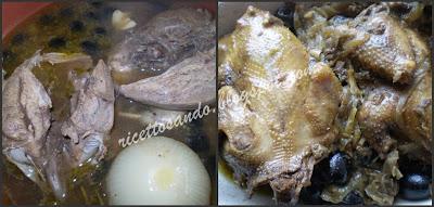 Piccioni al forno con olive e capperi repriamo la carne in teglia