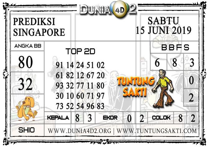 """Prediksi Togel """"SINGAPORE"""" DUNIA4D2 15 JUNI 2019"""