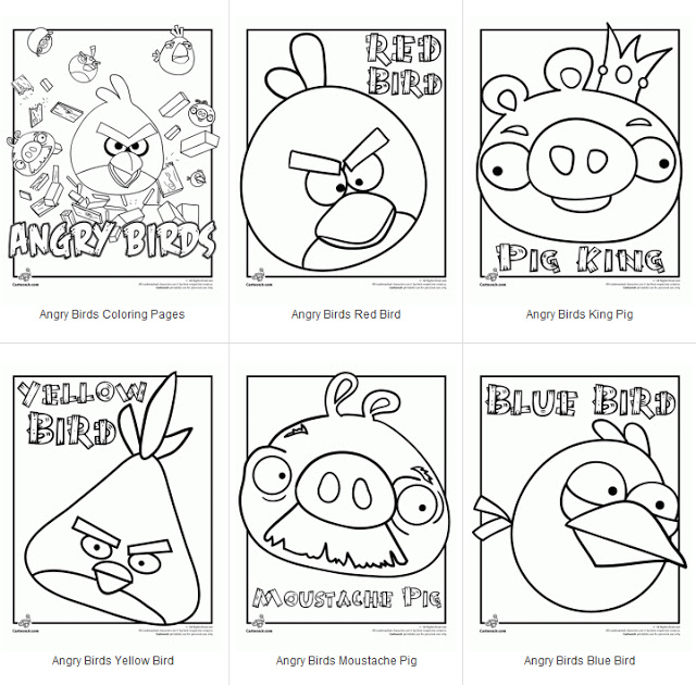 angry birds coloring pages game - photo#43