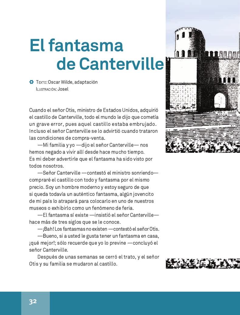 El fantasma de Canterville - Español Lecturas 4to ~ Apoyo