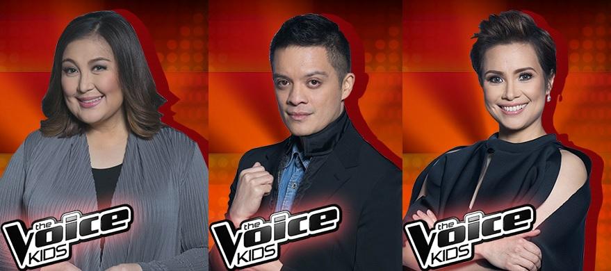 The Voice Kids Philippines Season 3 coachers (L-R): Sharon Cuneta, Bamboo and Lea Salonga