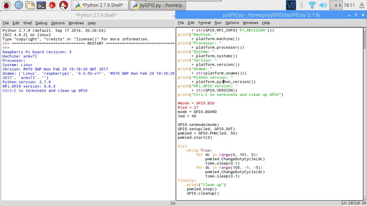 Hello Raspberry Pi: Python to generate PWM on GPIO of